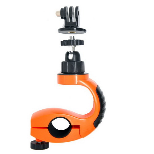 bicycle stand with 360 degrees, with tripod adapter + long screw,for GoPro Hero