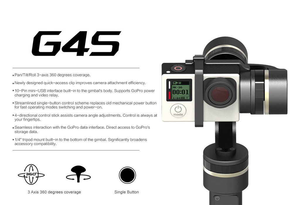 NEW Feiyu Tech G4S 3-Axis Handheld Gimbal POST