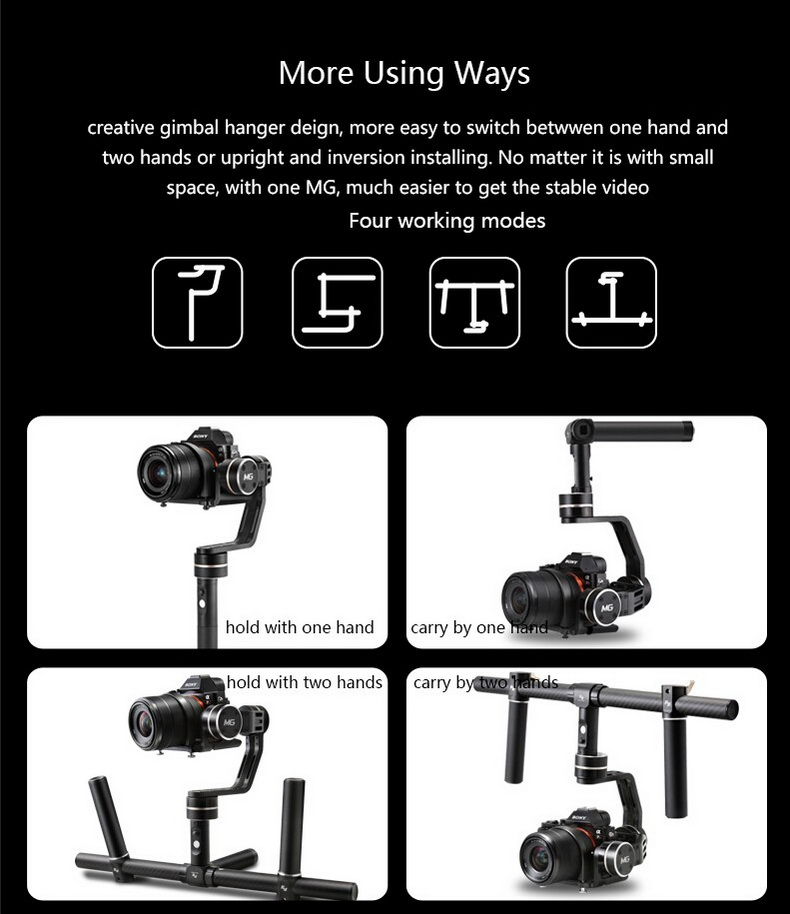 Feiyu Tech FY-MG 3-Axis Handheld Gimbal For Mirrorless Cameras (22)