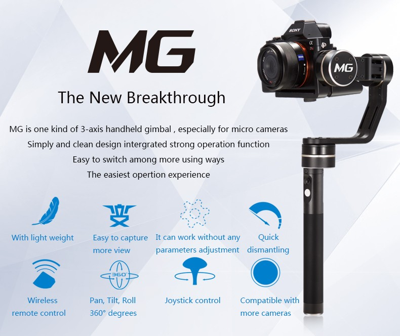 Feiyu Tech FY-MG 3-Axis Handheld Gimbal for Mirrorless Cameras (1)