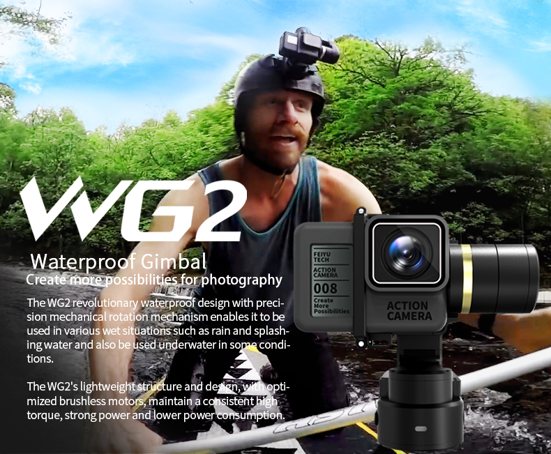 Feiyu Tech WG2 3-Axis Wearable WaterProof Gimbal for GoPro HERO5 4, GoPro5 4 Session & Action Camera (59)